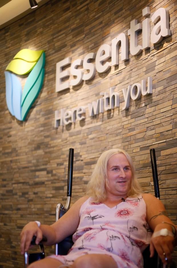 Brianna Cassady, a transgender woman, speaks about her gender reassignment surgery at Essentia in Fargo on Monday, June 18, 2018. David Samson / The Forum
