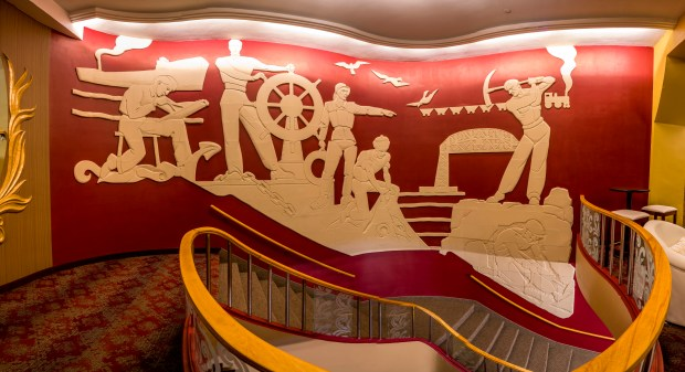 A restored NorShor theater beckons from downtown Duluth to visitors