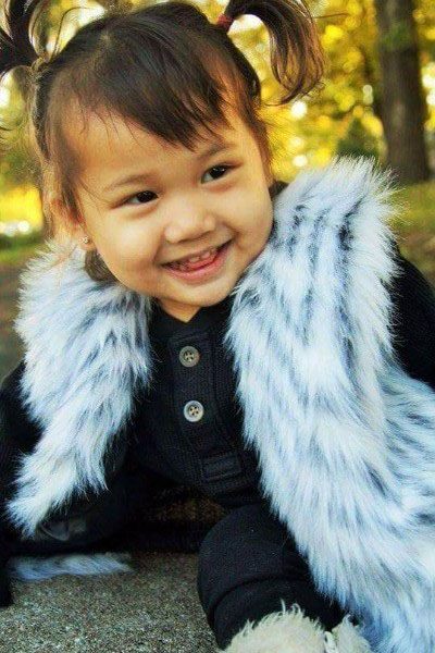 Chassidy Ulia Vang, 2, was critically injured in a shooting in St. Paul on Monday, June 19, 2017. The family of the 2-year-old girl shot in St. Paul posted a photo of her on a fundraising website on Monday, June 19, 2017. (Courtesy of GoFundMe)