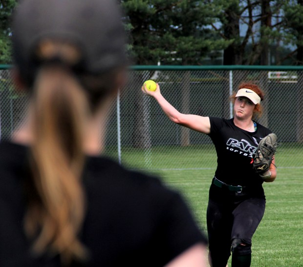 Park senior shortstop Delaney Young, shown at practice on June 5, 2018, is the 2018 Pioneer Press East Metro softball Player of the Year. Young, an Augustana commit, is hitting .569 this season with six home runs and 34 RBIs from the leadoff spot. Shortstop is the fourth position she's played in five years. (Jace Frederick / Pioneer Press)