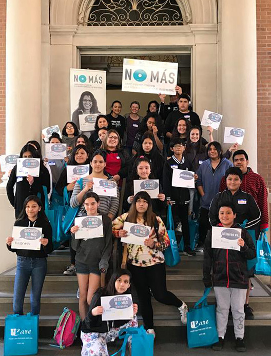 A group of youth who volunteer with St. Paul nonprofit Casa de Esperanza are seen in an undated courtesy photo, circa June 2018. They lead and organize their own youth conference every year. The St. Paul-based nonprofit recently celebrated its 35th anniversary. (Courtesy of Casa de Esperanza)