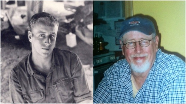 Galen A. Brown, in Vietnam in 1968 and not long before he died in 2013.