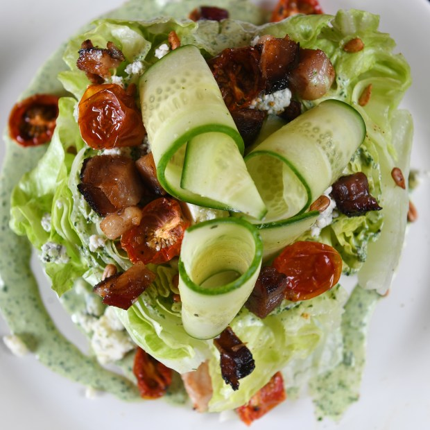 The wedge salad at the Parlour Bar on West 7th in St. Paul on Tuesday, June 5, 2018. (John Autey / Pioneer Press)