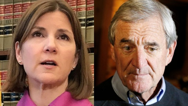 Lori Swanson and Rick Nolan (Pioneer Press and AP files)