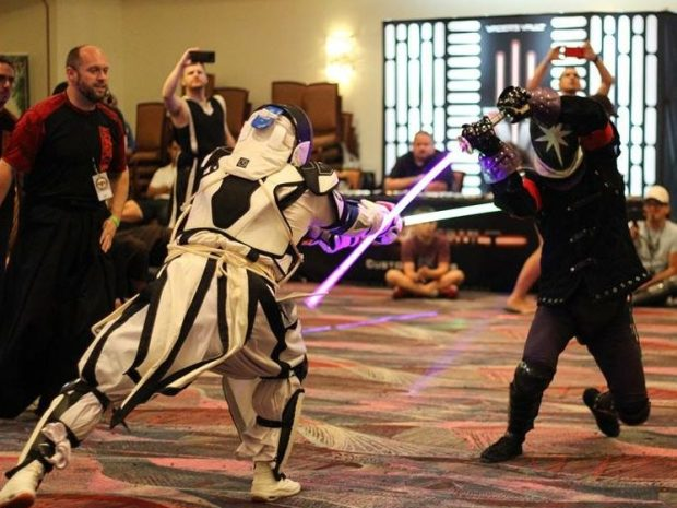The force of 'Star Wars'-style LED saber fighting is strong