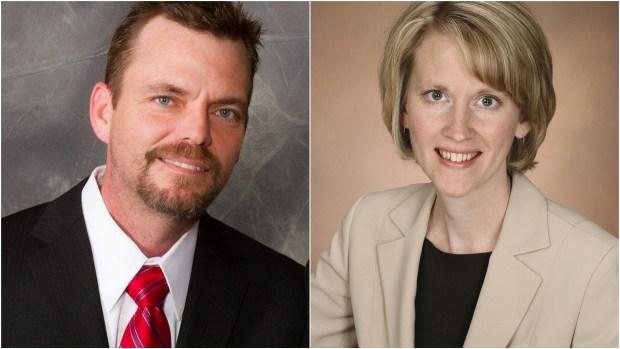 Shane Mekeland and Sarah Anderson