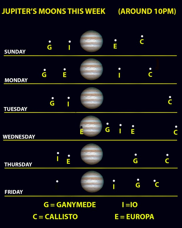 Sky Watch: Jupiter and its many moons put on a show this week – Twin