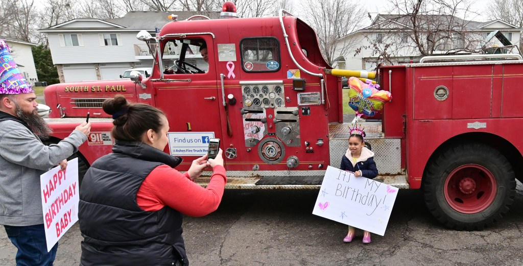 Old South St Paul Fire Truck Turns Kids Birthday Parties Into Drive By Celebrations Twin Cities