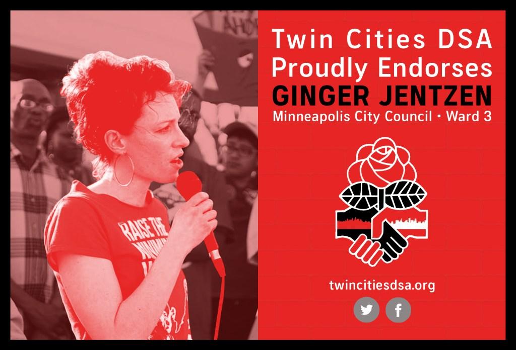 Twin Cities DSA Proudly Endorses Ginger Jentzen for Minneapolis City Council - Ward 3