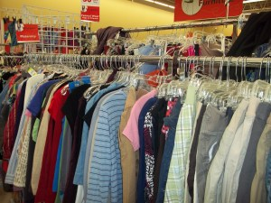Thrift Store Shopping deals on maternity clothes