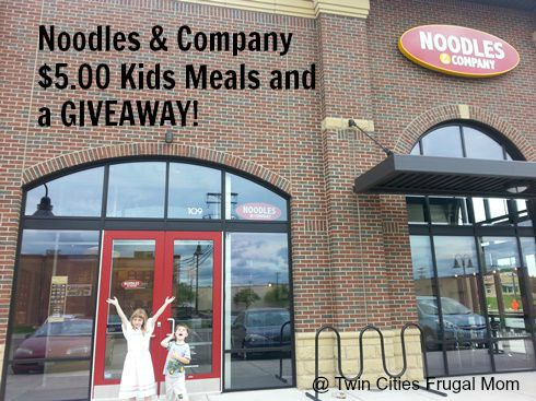 photo regarding Noodles and Company Printable Coupons named Noodles Organization $5.00 Little ones Foodstuff a GIVEAWAY! - Dual