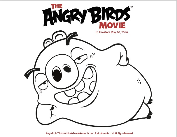 free angry bird chuck coloring pages
