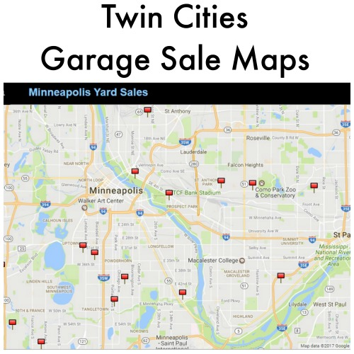 image relating to Printable Garage Sale Price List called Garage Sale Maps - Dual Towns Frugal Mother