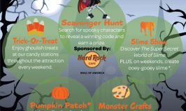 """Discount Tickets for """"Screamin' Green Hauntoween"""" at Crayola Experience Mall of America October 7 – 31"""