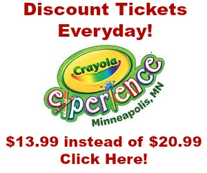 discount crayola experience mall of america tickets every day