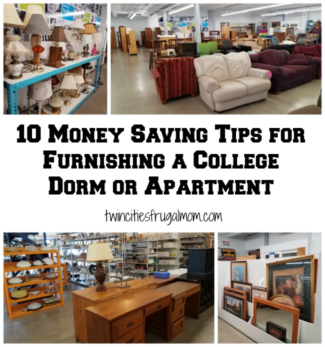 10 Money Saving Tips for Furnishing a College Dorm or Apartment