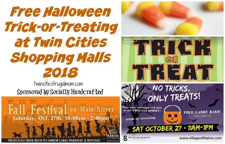 free halloween trick treating twin cities shopping malls
