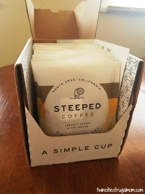 Steeped Coffee 10 Pack Box