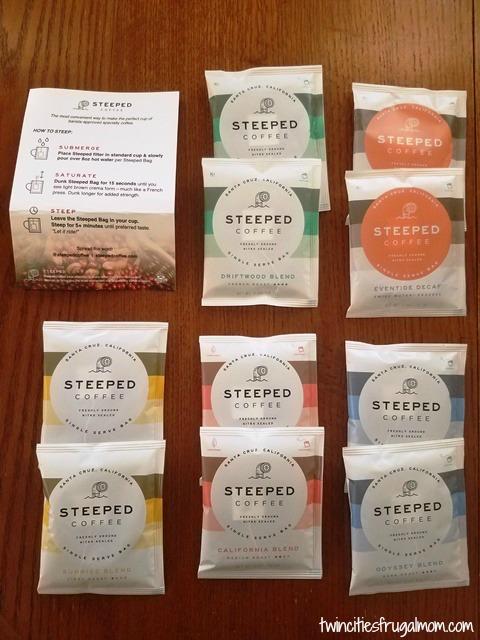 Steeped Coffee 5 Varieties