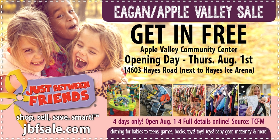 Just Between Friends Eagan August 2019 Sale Coupon
