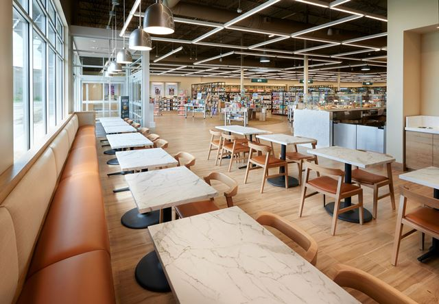 Cafe seating in the store