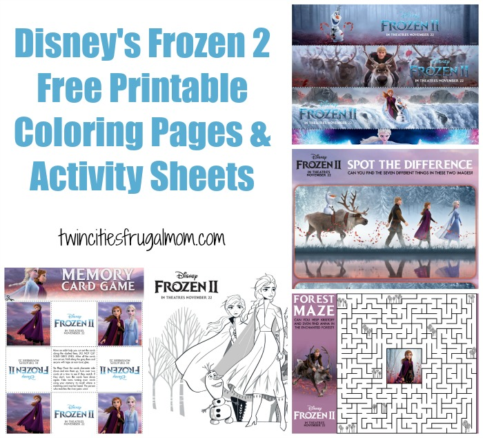 Disney S Frozen 2 Free Printable Coloring Pages Activity Sheets