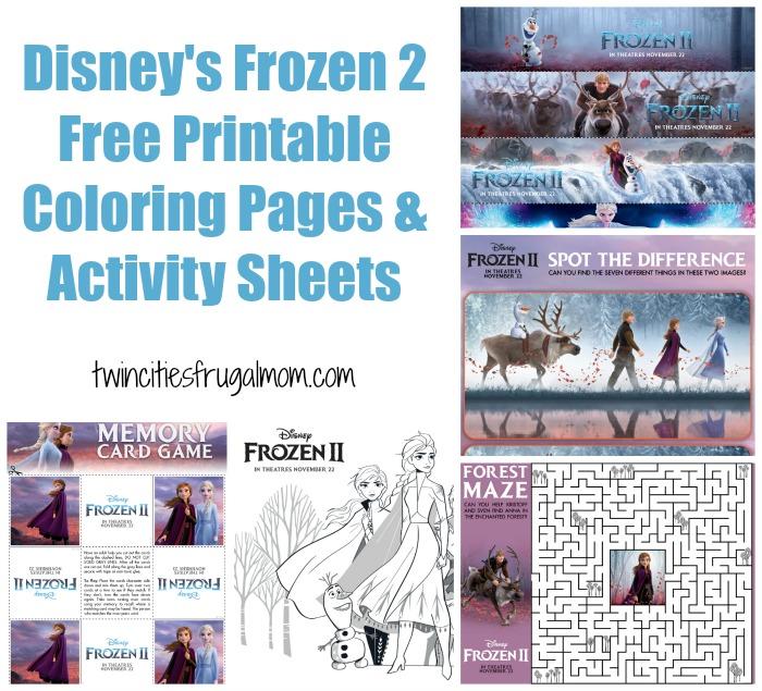 Disney's Frozen 2 Free Printables