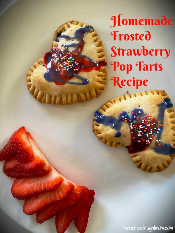 Homemade Frosted Strawberry Pop Tarts Recipe
