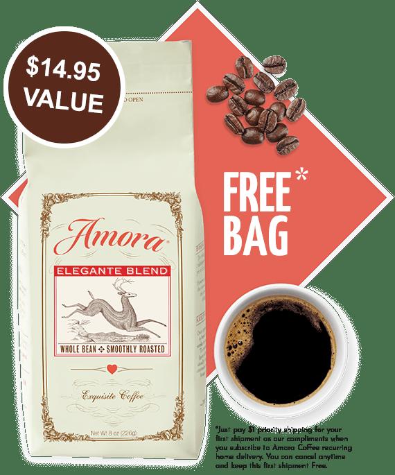 Amora free coffee