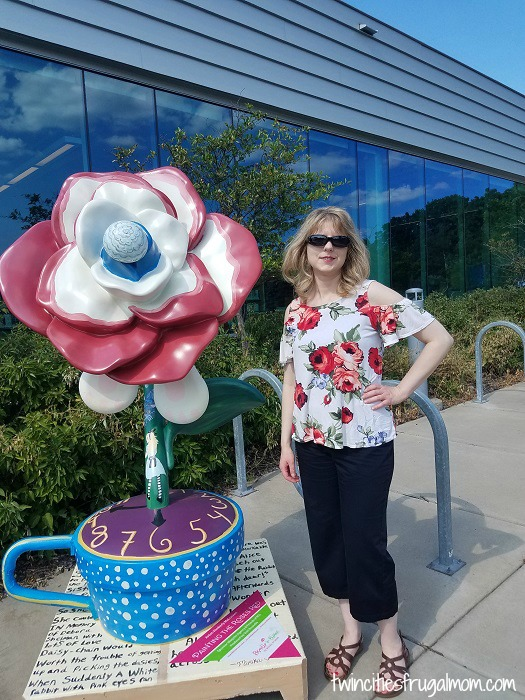 Roseville in Bloom - library