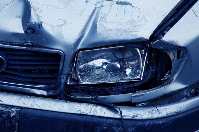 Car accident headlamp