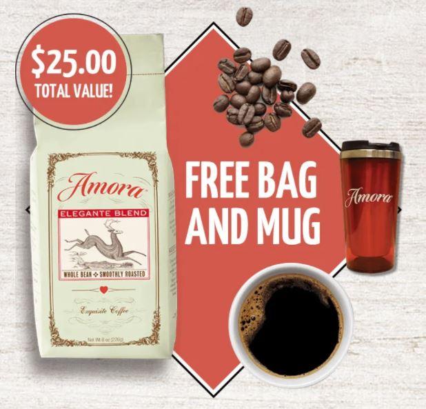amora free bag mug