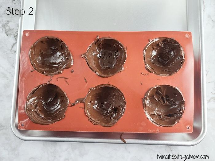 Mocha Hot Chocolate Bombs Step 2