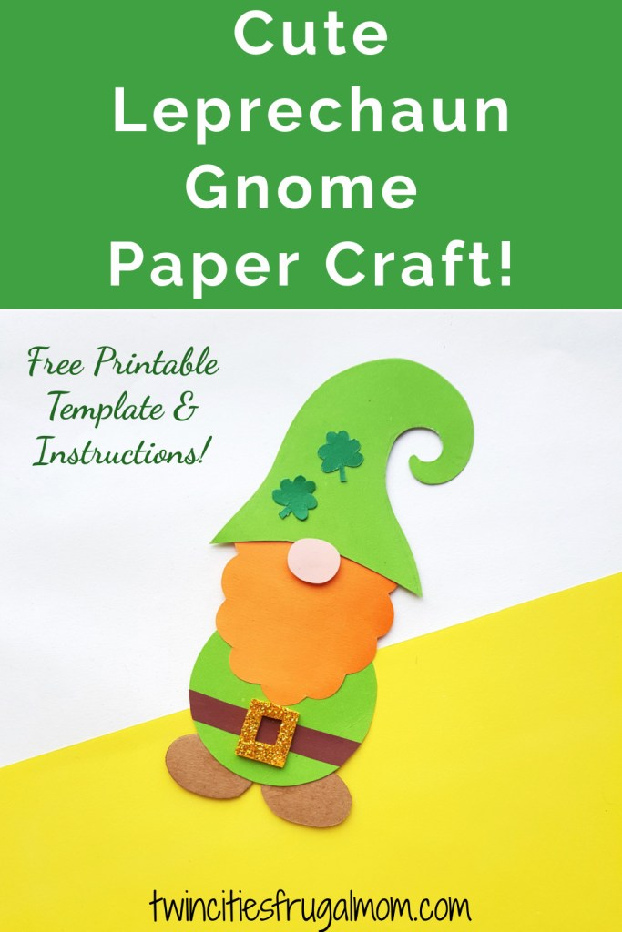 Cute Leprechaun Gnome Paper Craft Pinterest