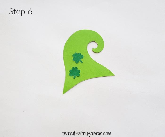 Leprechaun Gnome Paper Craft Step 6