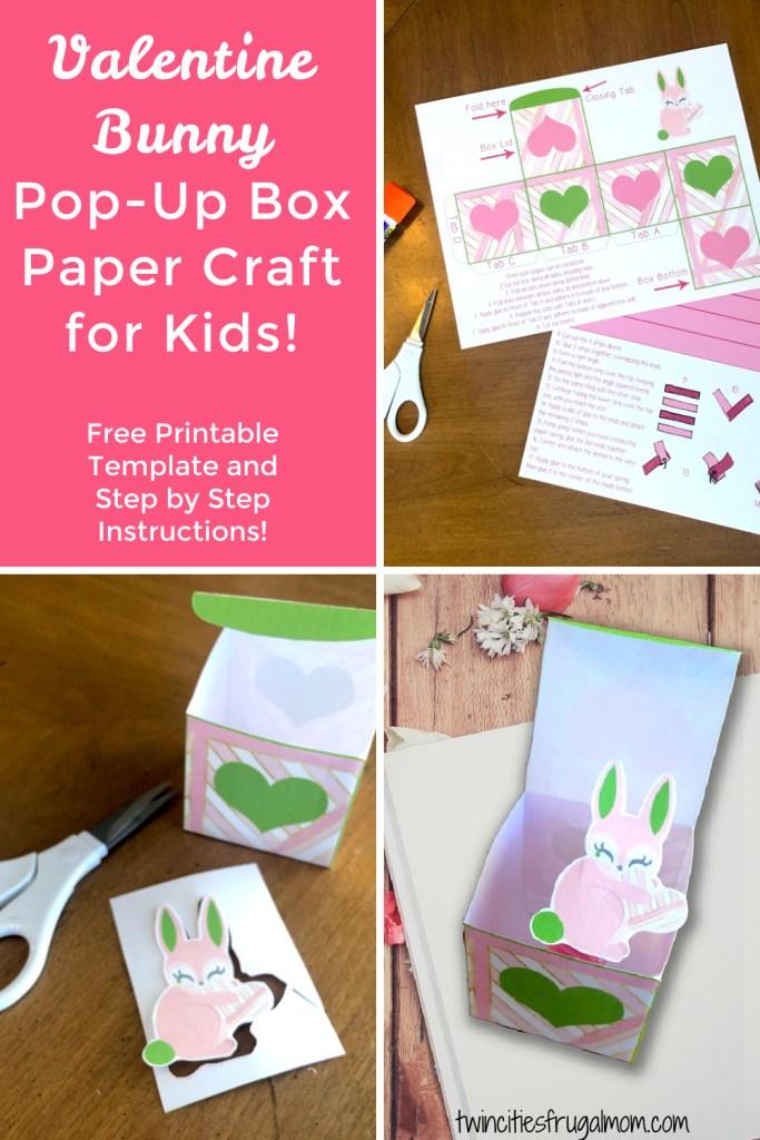 Valentine Bunny Pop Up Craft Pinterest