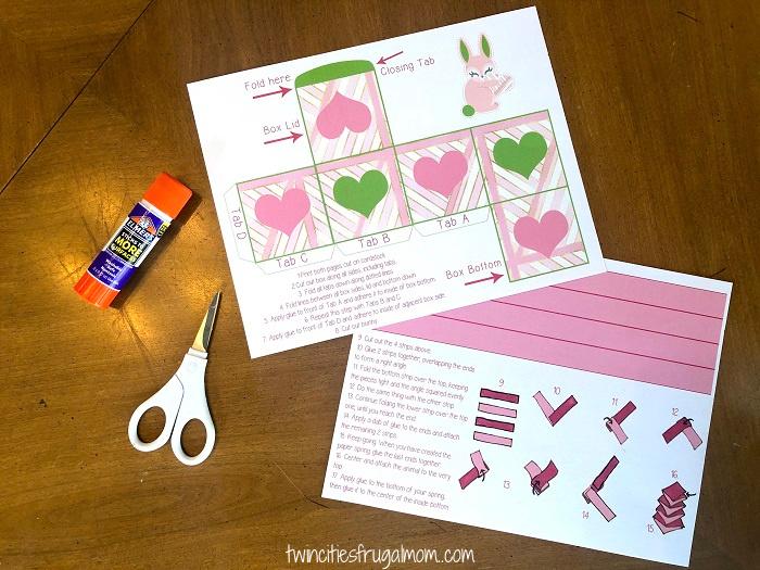Valentine Bunny Pop Up Craft Supplies