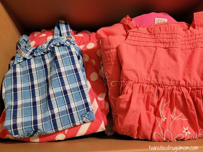 JBF clothing box
