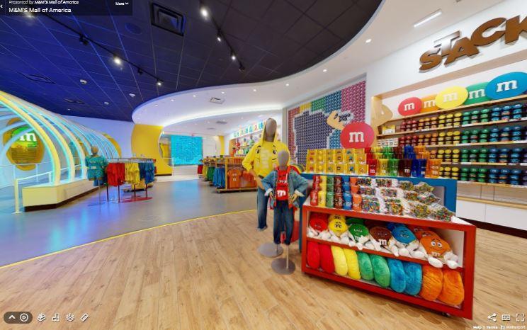 M&M store virtual tour