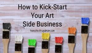 How to Kick Start Art Side Business