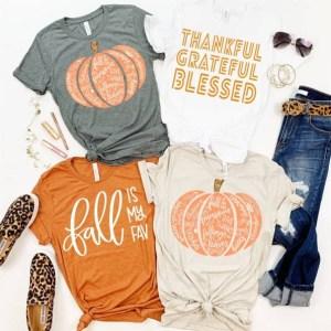 Fall t-shirts