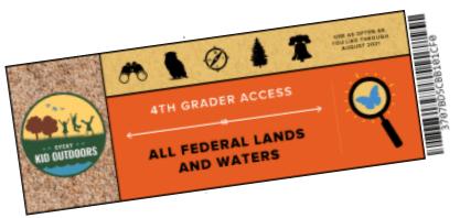 Fourth Grade Park Pass