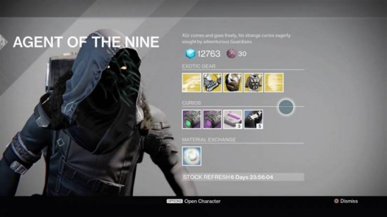 Xur Oct 2 Destiny The Taken King Exotics