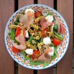 Low Carb Nudelsalat mit Rote Linsen Nudeln