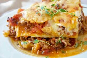 Gesunde Low Carb Auberginen Lasagne