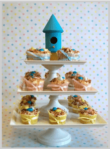cupcakes nest triplets or multiples baby shower