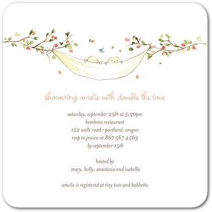the best twins baby shower invites  twiniversity, Baby shower
