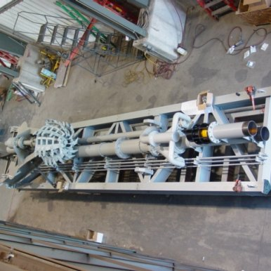 Rotary cutter ladder ready to load