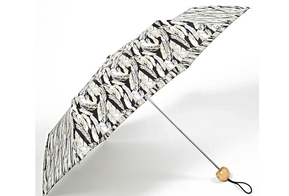 Fulton Superslim Umbrella In Scattered Feather Print