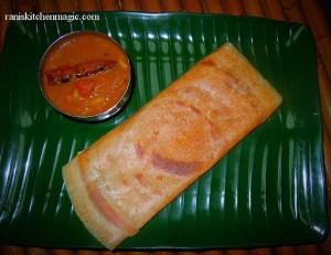 Dosa Ghee Roast With Kerala Style Sambar
